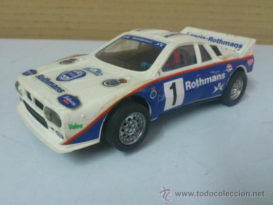 Scalextric: . COCHE SCALEXTRIC LANCIA ROTHMANS RALLY 037 .MADE IN SPAIN. FUNCIONA. - Foto 2 - 38999007