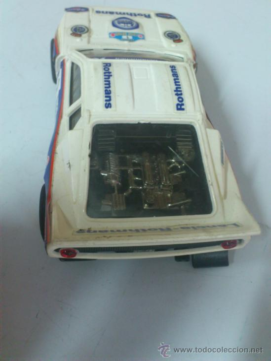 Scalextric: . COCHE SCALEXTRIC LANCIA ROTHMANS RALLY 037 .MADE IN SPAIN. FUNCIONA. - Foto 3 - 38999007