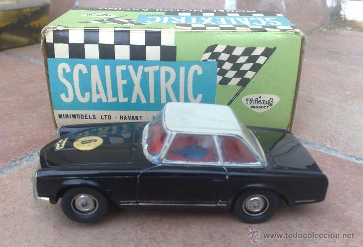 MERCEDES 250 SL NEGRO CAPOTA GRIS SCALEXTRIC EXIN ,VER FOTOS Y LEER DESCRIPCION !!! (Juguetes - Slot Cars - Scalextric Exin)