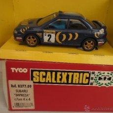 Scalextric: SUBARU IMPREZA AZUL CON LUZ Nº2 REF. 8377 EXIN 1994. Lote 42601041