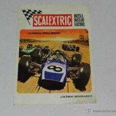 Scalextric: (M-ALB3) SCALEXTRIC ULTIMAS NOVEDADES 1970, ILUSTRADO, BUEN ESTADO. Lote 43807182