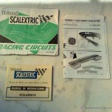Scalextric: DOCUMENTACION SCALEXTRIC EXIN RACING CIRCUITS 6ª,CATALGO DE TRAMOS Y ACCESORIOS 3ª. Lote 44101367