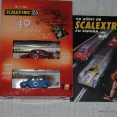 Scalextric: CAJA SCALEXTRIC 40 ANIVERSARIO CON EL LIBRO. Lote 45437917
