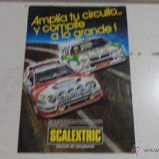 Scalextric: FOLLETO SCALEXTRIC EXIN DE AMPLIACIONES DE CIRCUITOS . Lote 70338397