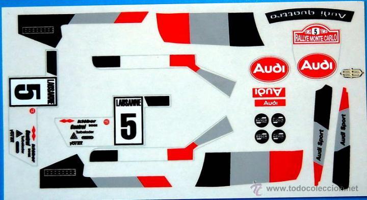 Audi quattro decoracion oficial adhesivos repro comprar scalextric exin en todocoleccion - Decoracion scalextric ...