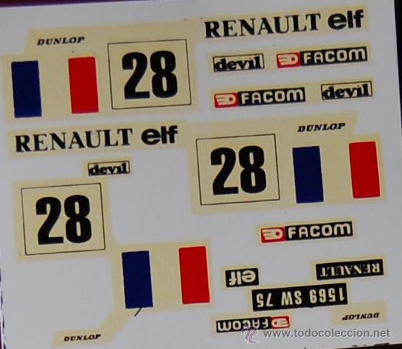 Renault 5 decoracion francesa calcas scalextric comprar scalextric exin en todocoleccion - Decoracion scalextric ...