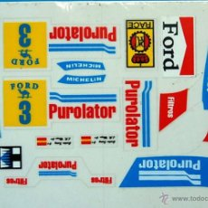 Scalextric: FORD RS200 PUROLATOR ADHESIVOS TROQUELADOS SCALEXTRIC EXIN. Lote 195275602