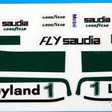 Scalextric: WILLIAMS FW07 F1 ADHESIVOS TROQUELADOS SCALEXTRIC EXIN. Lote 195275601