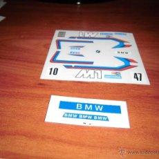 Scalextric: ADHESIVOS TROQUELADOS DE BMW M-1 2ª DECORACION DE SCALEXTRIC EXIN. Lote 79691777