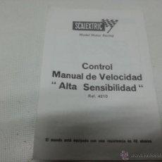 Scalextric: GUIA, MANUAL DE VELOCIDAD, ALTA SENSIBILIDAD, CONTROL, SCALEXTRIC, REF 4210-1996 56. Lote 49462116