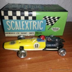 Scalextric: MUY RARO Y DIFICIL HONDA 1ª SERIE AMARILLO LIMON CHASIS BLANCO SCALEXTRIC EXIN, EN MUY BUEN ESTADO !. Lote 52750117