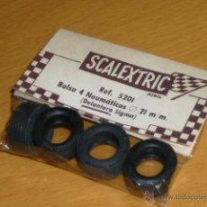 Scalextric: SCALEXTRIC ORIGINAL EXIN 4 NEUMATICOS DELANTEROS SIGMA EN BLISTER SIN ABRIR REF 5201. Lote 156598405