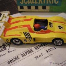 Scalextric: SCALEXTRIC EXIN ALPINE 2000 TURBO AMARILLO CAJA ORIGINAL Y INSTRUCCIONES. Lote 53701952