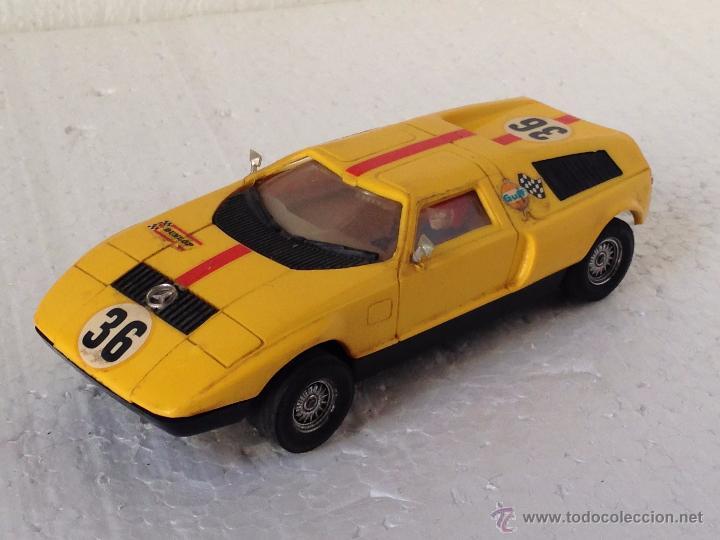 SCALEXTRIC MERCEDES C111 REF C44 COLOR AMARILLO (Juguetes - Slot Cars - Scalextric Exin)