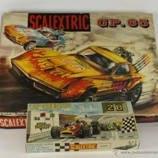 Scalextric: SCALEXTRIC MODELO GP-65. COMPLETO. 2 CHEVROLET DRAGSTAR. 1970. CUENTAVUELTAS SCALEXTRIC 3268.. Lote 148942862