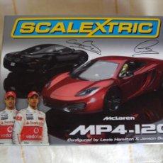 Scalextric: SCALEXTRIC S3171A MCLAREN MP4-12C CAJA EDICIÓN DE LUJO HAMILTON & BUTTON. Lote 55903312