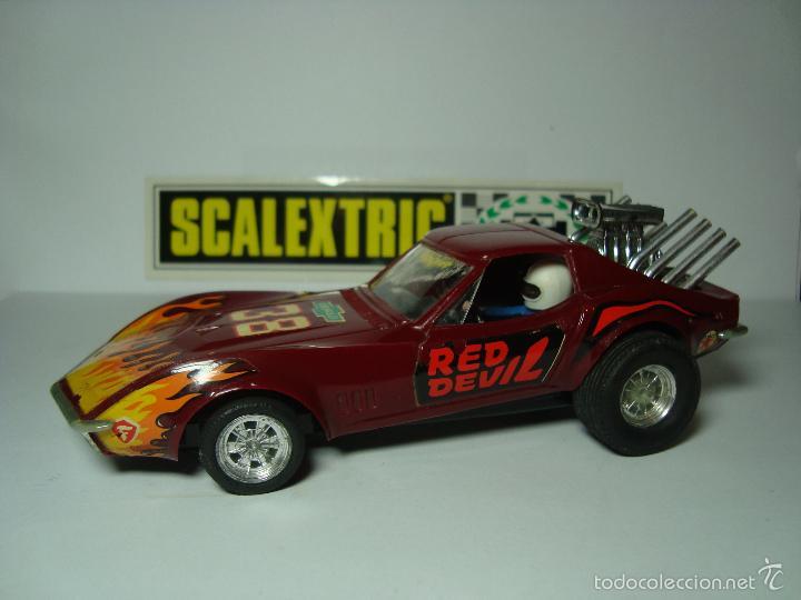 dragster chevrolet corvette de scalextric exin - Buy Slot