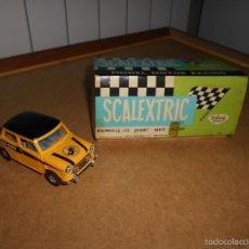 Scalextric: ANTIGUO COCHE SCALEXTRIC EXIN MINI MOVI COOPER C-45 AMARILLO AÑO 1970 BUEN ESTADO. Lote 56745149
