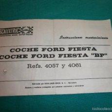 Scalextric: INSTRUCCIONES MANTENIMIENTO FORD FIESTA BP. Lote 57152999