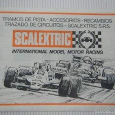 Scalextric: SCALEXTRIC EXIN DOCUMENTACION CATALOGO TRAMOS DE PISTAS AÑOS 80. Lote 57475240