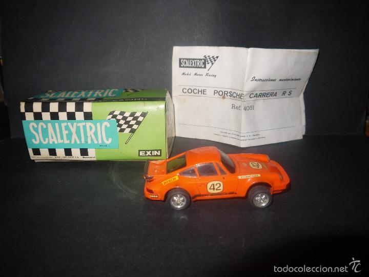 Scalextric: COCHE DE SCALEXTRIC POSCHE CARRERA RS REF-4051 DE EXIN CON CAJA Y PAPELES. - Foto 3 - 60356727