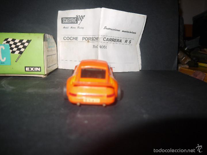 Scalextric: COCHE DE SCALEXTRIC POSCHE CARRERA RS REF-4051 DE EXIN CON CAJA Y PAPELES. - Foto 5 - 60356727