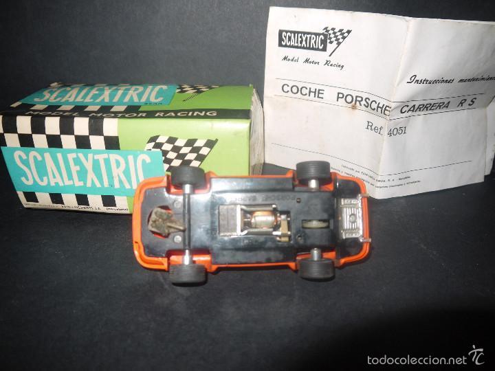 Scalextric: COCHE DE SCALEXTRIC POSCHE CARRERA RS REF-4051 DE EXIN CON CAJA Y PAPELES. - Foto 8 - 60356727