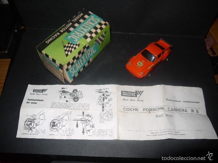 Scalextric: COCHE DE SCALEXTRIC POSCHE CARRERA RS REF-4051 DE EXIN CON CAJA Y PAPELES. - Foto 11 - 60356727