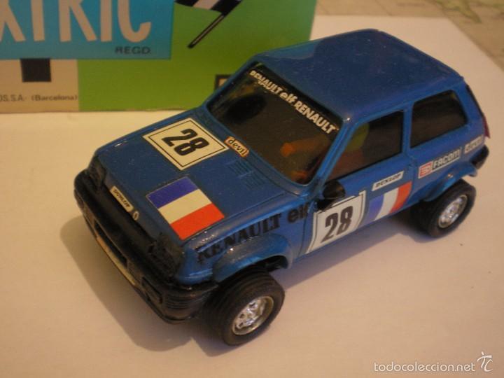 SCALEXTRIC EXIN RENAULT 5 AZUL AÑOS 80 EN PERFECTO ESTADO (Juguetes - Slot Cars - Scalextric Exin)