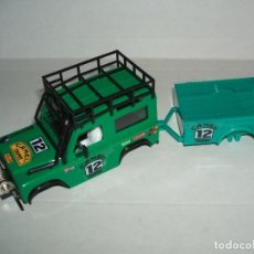 Scalextric: CARROCERIA LAND ROVER STS + REMOLQUE. Lote 74470430