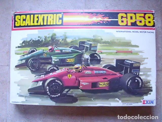 CIRCUITO SCALEXTRIC GP58 FERRARI F1/87 DE EXIN. FUNCIONANDO Y CAJA ORIGINAL (Juguetes - Slot Cars - Scalextric Exin)