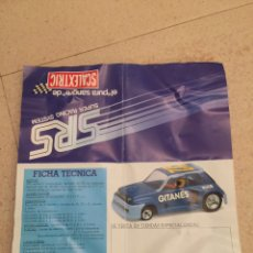 Scalextric: SCALEXTRIC EXIN SRS FOLLETO FICHA TÉCNICA. Lote 79346450