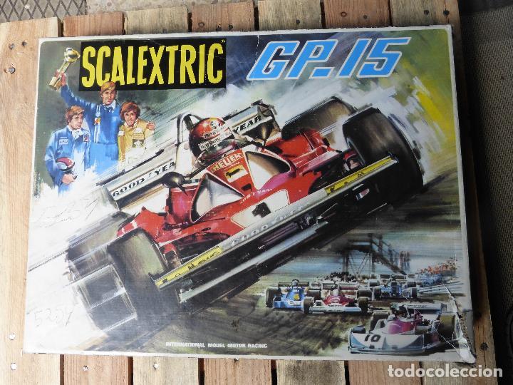 SCALEXTRIC GP15 CON COCHES Y PISTAS. (Juguetes - Slot Cars - Scalextric Exin)