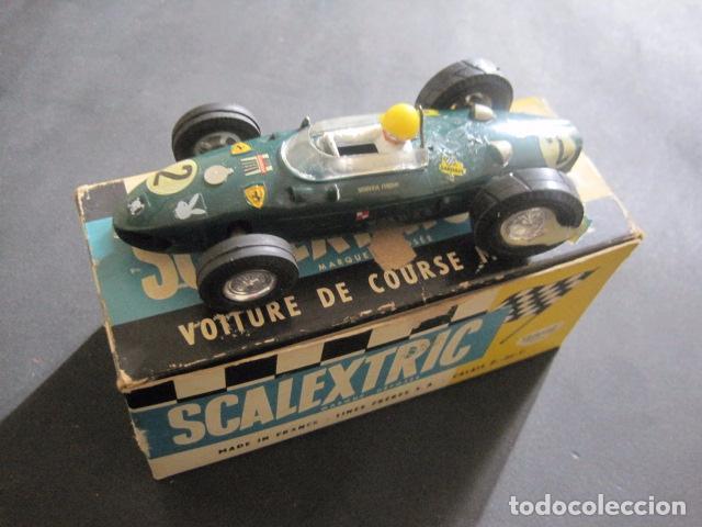 FERRARI CMM C 62- SCALEXTRIC TRIANG -LINES FRERES FRANCE - CALAIS -CON CAJA - VER FOTOS (Juguetes - Slot Cars - Scalextric Exin)