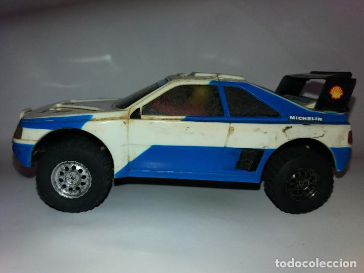 PEUGEOT 405 EXIN BLANCO PIONEER (Juguetes - Slot Cars - Scalextric Exin)