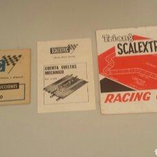 Scalextric: ANTIGUOS FOLLETOS SCALEXTRIC EXIN. Lote 86945818