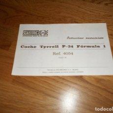 Scalextric: PAPELES SCALEXTRIC EXIN INSTRUCCIONES DE MANTENIMIENTO TYRRELL FORMULA 1 P-34,REF.4054. Lote 91660135