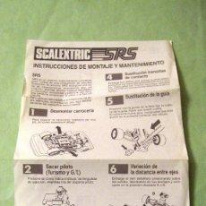 Scalextric: SCALEXTRIC EXIN ORIGINAL: INSTRUCCIONES DE MANTENIMIENTO COCHES SRS. MUY BUEN ESTADO. Lote 93816870