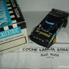Scalextric: LANCIA STRATOS LE POINT DE EXIN REF.-4055 CON SU CAJA ORIGINAL E INSTRUCCIONES. Lote 95788783