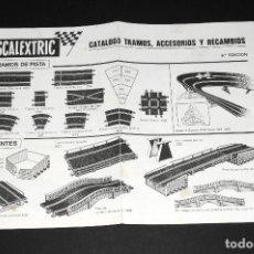 Scalextric: CATALOGO TRAMOS, ACCESORIOS Y RECAMBIOS SCALEXTRIC - 9ª EDICION. Lote 97786931