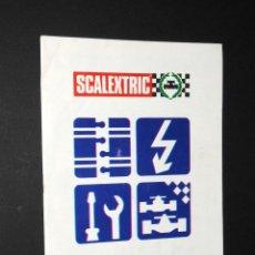 Scalextric: CATALOGO DESPLEGABLE SCALEXTRIC - INSTRUCCIONES Y MANTENIMIENTO. Lote 97787118