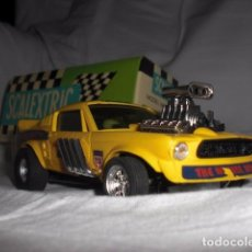Scalextric: COCHE SCALEXTRIC FORD MUSTANG DRAGSTER REF. 4049 AMARILLO. Lote 98090359
