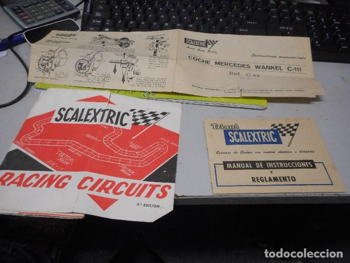 PAPELES SCALEXTRIC MANUAL INSTRUCCIONES MANTENIMIENTO RACING CIRCUITS (Juguetes - Slot Cars - Scalextric Exin)