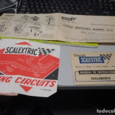 Scalextric: PAPELES SCALEXTRIC MANUAL INSTRUCCIONES MANTENIMIENTO RACING CIRCUITS. Lote 99843431