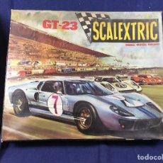 Scalextric: CAJA SCALEXTRIC EXIN GT 23 PIEZAS PISTAS TRANSFORMADOR MANDOS FOLLETOS NO COCHES 54X44X10CMS. Lote 100415443
