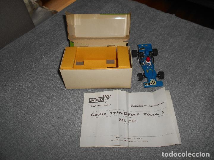 Scalextric: Coche scalextric Tyrrell-Ford form.1 4048 azul con caja e instrucciones ORIGINAL - Foto 8 - 102297483