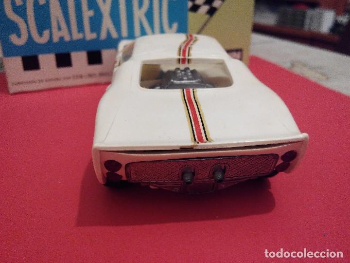 Scalextric: SCALEXTRIC EXIN FERRARI FORD GT BLANCO AÑOS 70 EN MUY BUEN ESTADO - Foto 2 - 104480459