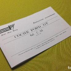 Scalextric: EXIN INSTRUCCIONES MANTENIMIENTO COCHE FORD GT C-35. Lote 107848883