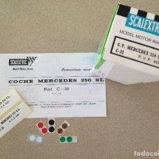 Scalextric: INSTRUCCIONES, ETIQUETAS, EXIN SCALEXTRIC, MERCEDES 250 SL. Lote 108587739
