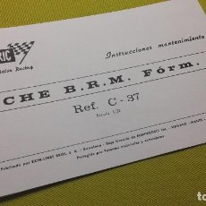 Scalextric: EXIN INSTRUCCIONES MANTENIMIENTO B.R.M. FORM-1 C- 37. Lote 109027031